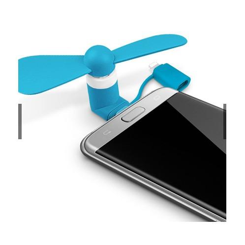 Quạt mini 2in1 micro USB dành cho điện thoại
