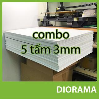 combo 5 tấm bìa mô hình 3mm ( fomex )
