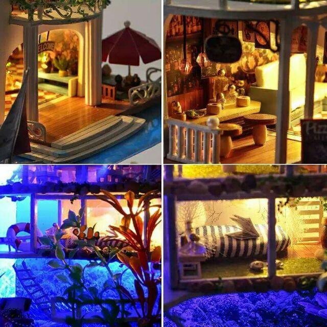 Mô hình nhà gỗ búp bê dollhouse DIY - TC4 Hawaii