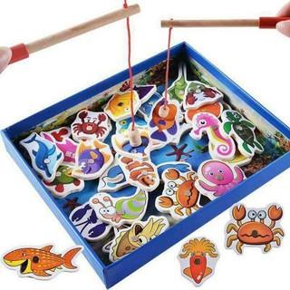 [SALE HOT] Bộ câu cá gỗ sinh vật biển 32 con