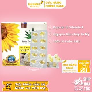 Viên uống Vitamin E 400 Giúp làm đẹp da nguyên liệu từ thiên nhiên - Hộp 100 viên Chính hãng thumbnail