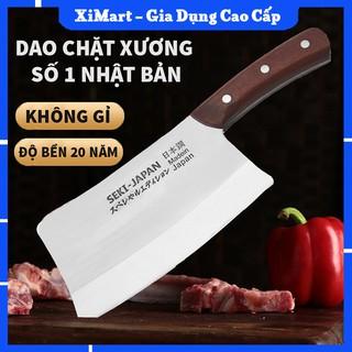 [MỚI] Dao Nhật Chính Hãng Seki Cao Cấp 30cm - Dao Thái Thịt Chặt Xương Bằng Thép Siêu Cứng Bền 20 Năm - XiMart