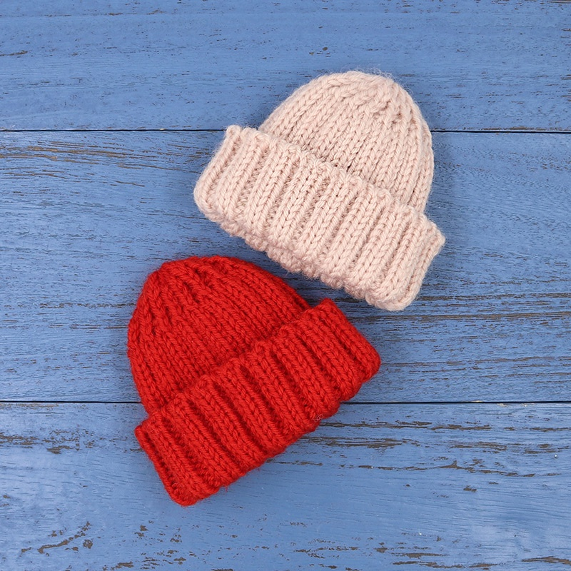 ICY DBSBlythe Lotus Root Pink Dark Red Woven Elastic Woolen Cap Suitable for Head Circumference27CMDoll