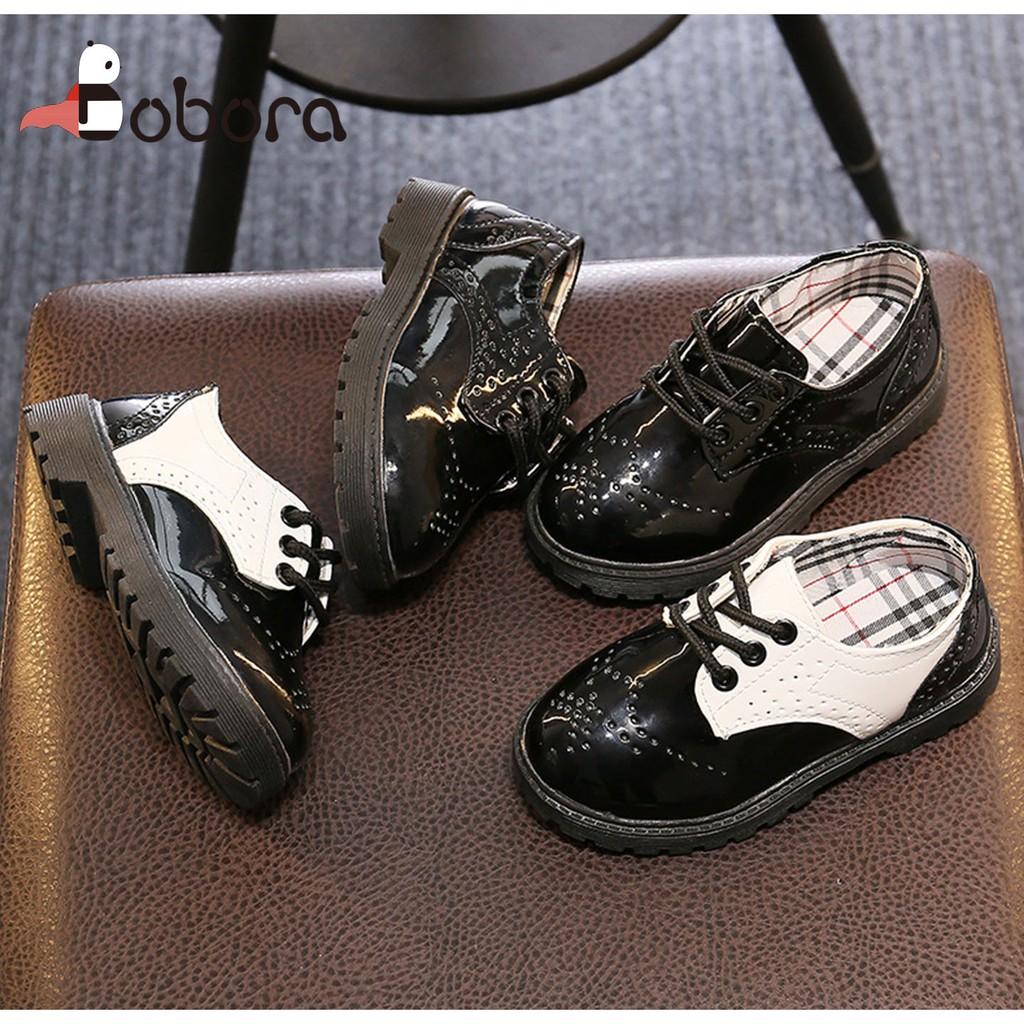 Giày tây giả da chống trượt cho bé