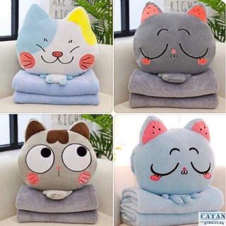 Bộ Chăn Gối Văn Phòng 3 Trong 1 Mèo Cute(GIAO MẪU NGẪU NHIÊN) thumbnail
