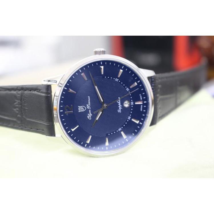 Đồng hồ nam dây da Olym Pianus OP5709 OP5709MS-GL xanh