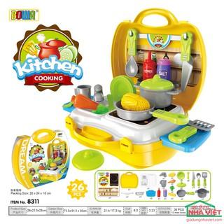 Vali bộ đồ chơi nấu ăn dụng cụ nhà bếp Bowa Kitchen Cooking