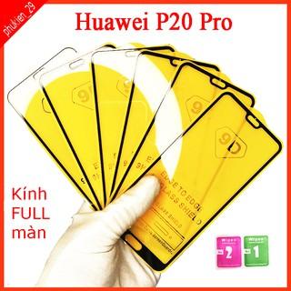 Kính cường lực Huawei p20 Pro full màn hình, Ảnh thực shop tự chụp, tặng kèm bộ giấy lau kính taiyoshop2 thumbnail