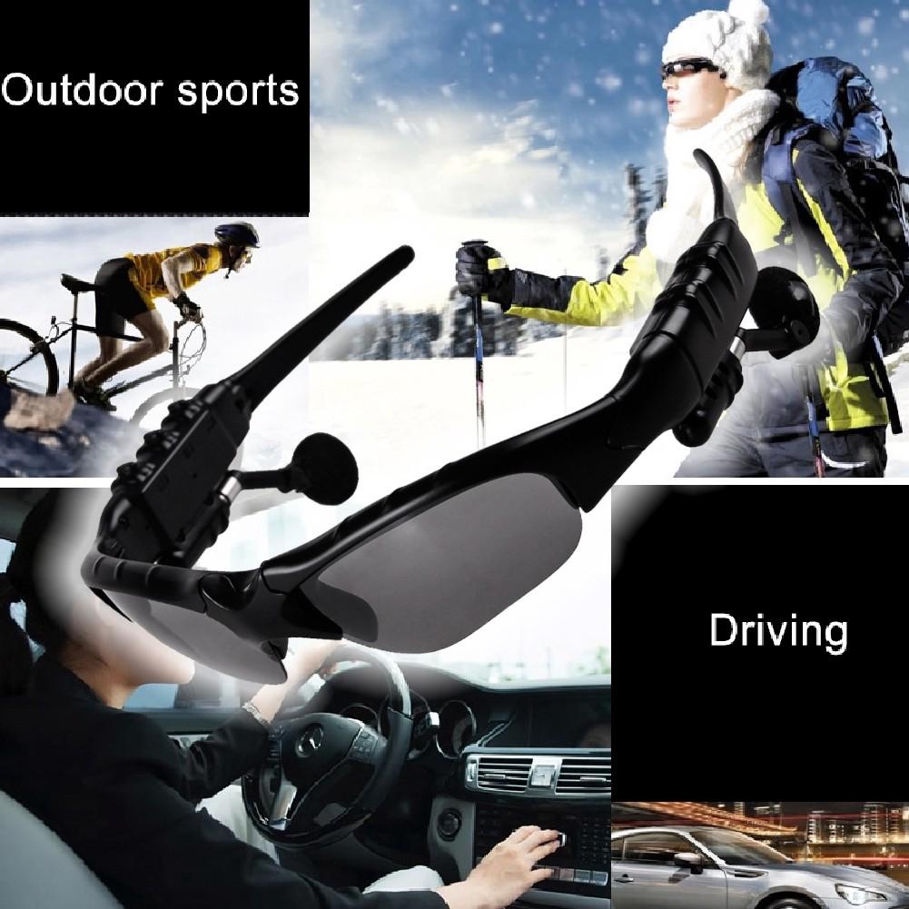 Kính mát thể thao kết nối Bluetooth kèm mic và phụ kiện