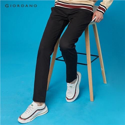Giordano กางเกงสลิมผ้ายืดสำหรับผู้ชาย 01117016