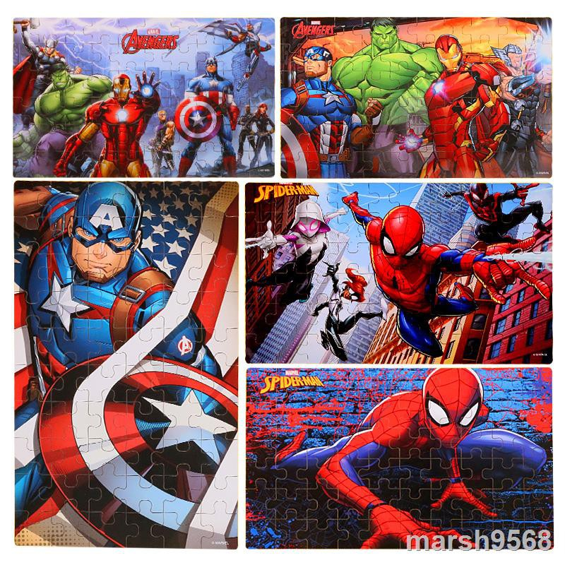 Bộ Đồ Chơi Xếp Hình 60 Mảnh Bằng Gỗ Độc Đáo Cho Bé Marvel