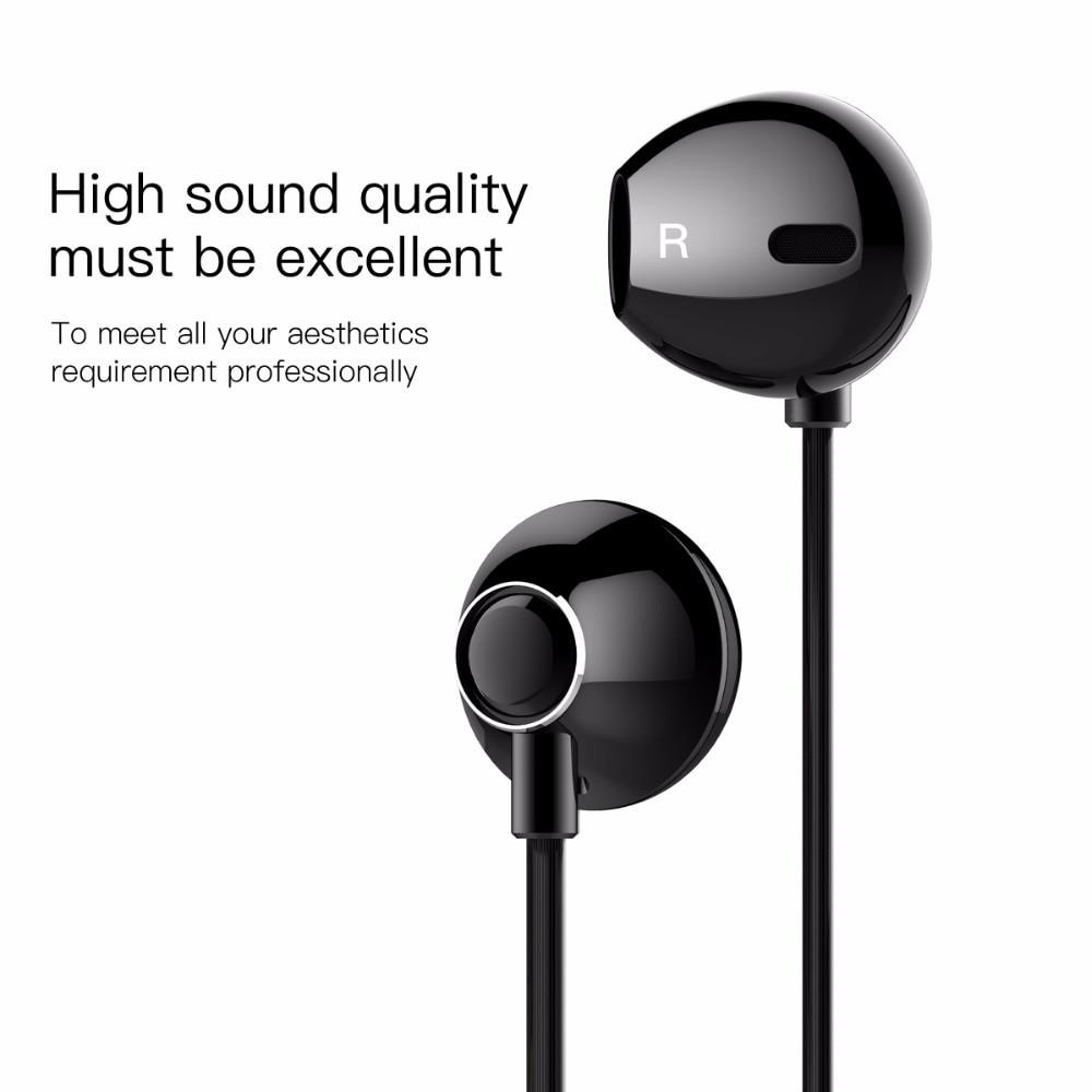Tai Nghe Nhét Tai Có Dây Mic Bass Âm Thanh Jack 3.5Mm Cho Iphone(Baseus Encok H06) Samsung Xiaomi - TopLink