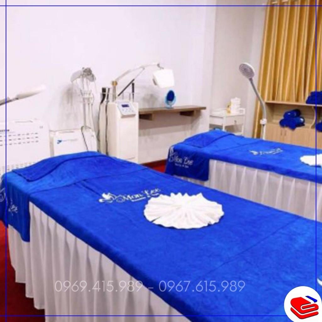 Khăn trải giường, đắp người LOẠI 1 siêu mềm, dày dặn cho spa, thẩm mỹ viện, kt 90*1m9, nặng 7 lạng/c