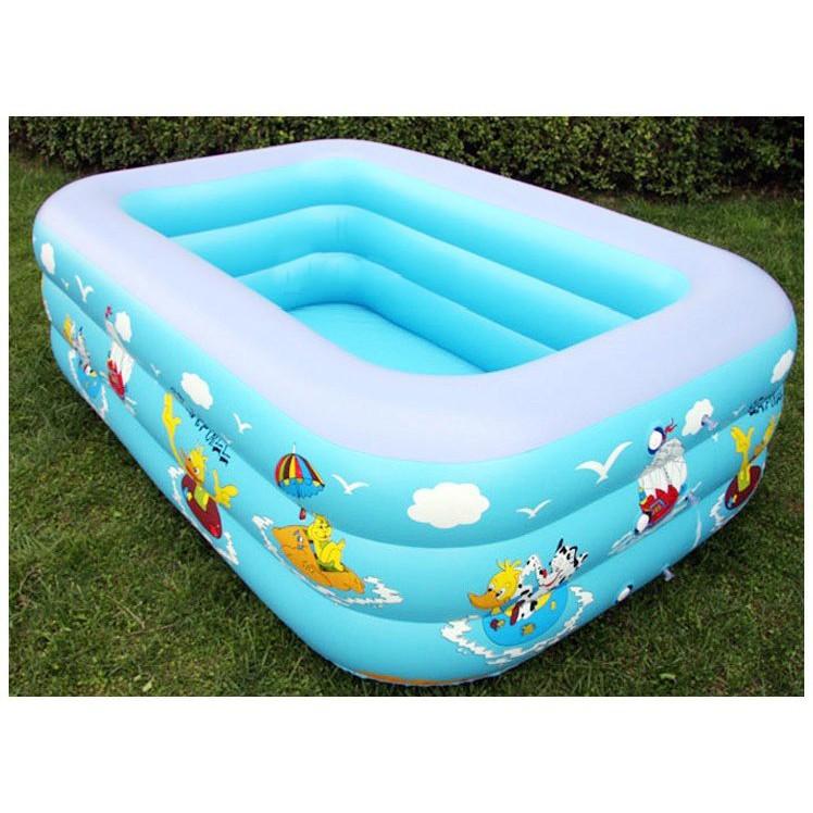 Bể bơi phao mini cho bé 3 tầng dài 1m8 hàng chính hãng