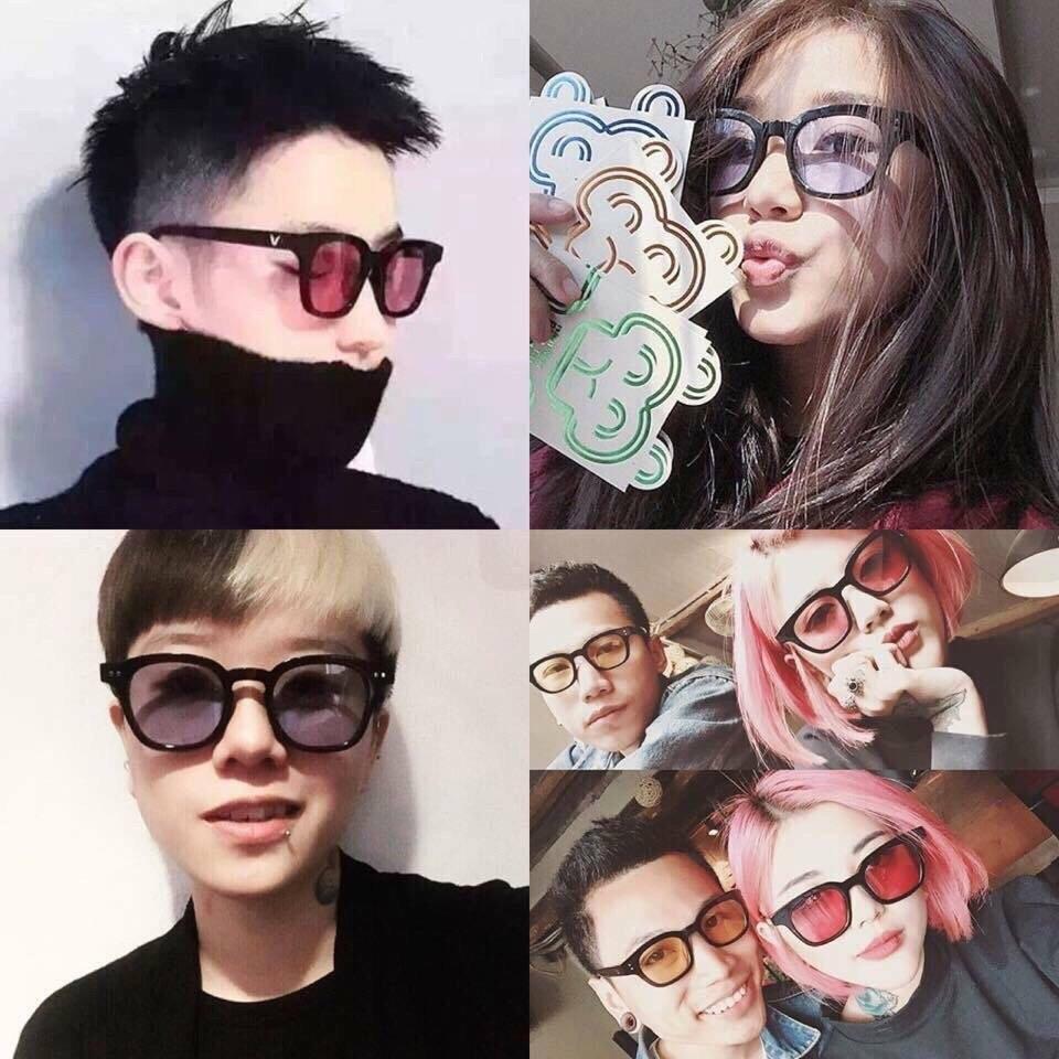 Mắt kính râm chữ V gọng nhỏ nhiều màu💖kính mát teen nam nữ Hàn Quốc thời trang AH129