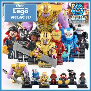 Xếp hình Avengers Thanos - Iron Man - Doctor Strange - Black Panther - Shuri - War Machine Lego Minifigures WM6072 thumbnail
