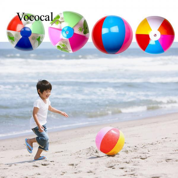1 PC Children Babies Kids Six Color Beach Inflatable Water Ball Educational Toy
