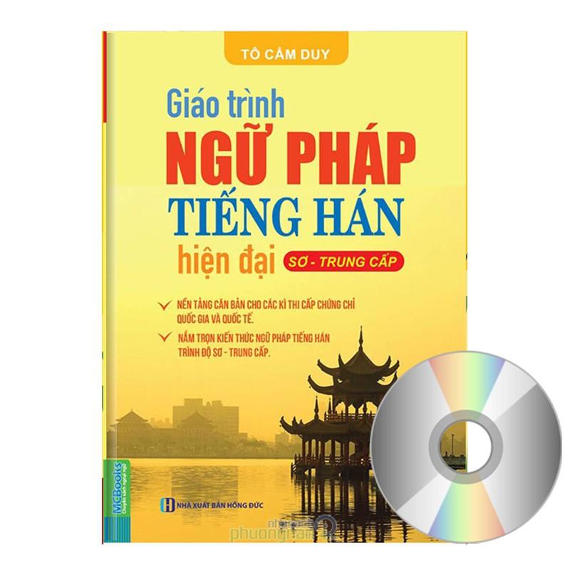 SÁCH - Giáo Trình Ngữ Pháp Tiếng Hán Hiện Đại (Sơ, Trung, Cấp) (Có DVD quà tặng đi kèm) - NGUPHAP