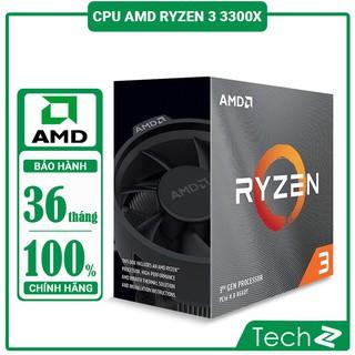 Bộ vi sử lý AMD Ryzen 3 3300X (3.8GHz turbo up to 4.3GHz, 4 nhân 8 luồng , 16MB Cache, 65W) – Socket AMD AM4