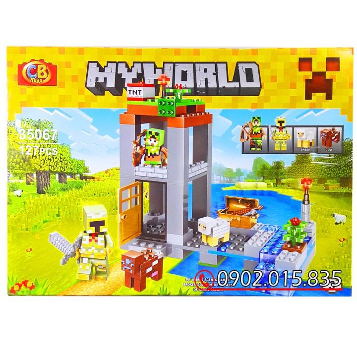 Bộ Lego Xếp Hình Mineecraft My World No.35067. Gồm 127 Chi Tiết. Lego Ninjago Lắp Ráp Đồ Chơi Cho Bé.