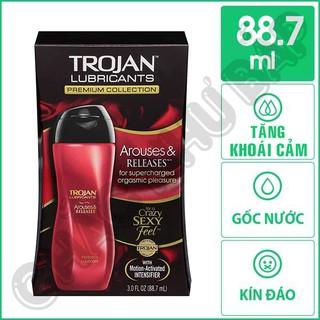 Gel bôi trơn Trojan Arouses And Releases kích thích khoái cảm phụ nữ 88.7ml thumbnail