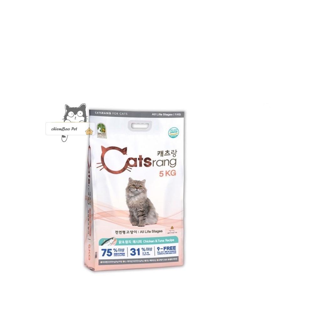 5kg thức ăn khô cho mèo catsrang bao công ty sỉ SLL