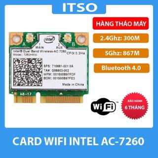 Card Wireless Atheros AR5B22 / DW1901 / INTEL AC 7260 2.4Ghz và 5.0Ghz – Card WIFI Mini PCI