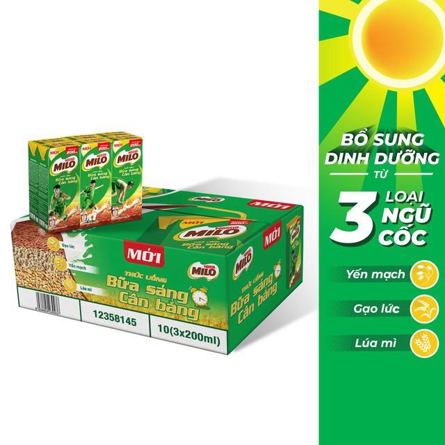 Hình ảnh Thùng 30 hộp sữa ngũ cốc Nestle Milo 200ml-1