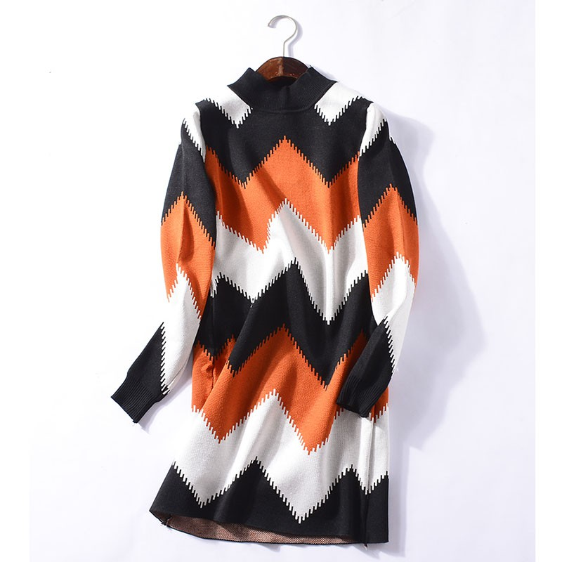 Autumn and winter long autumn loose pullover sweater skirt fashion casual atmosp