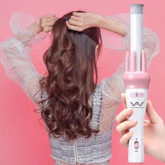 Đồ uốn tóc, Máy uốn tóc tự động xoay 360 độ,Tự hút, tự uốn, tự xoay, giữ nếp cực kì lâu - SALE ĐÓN TẾT