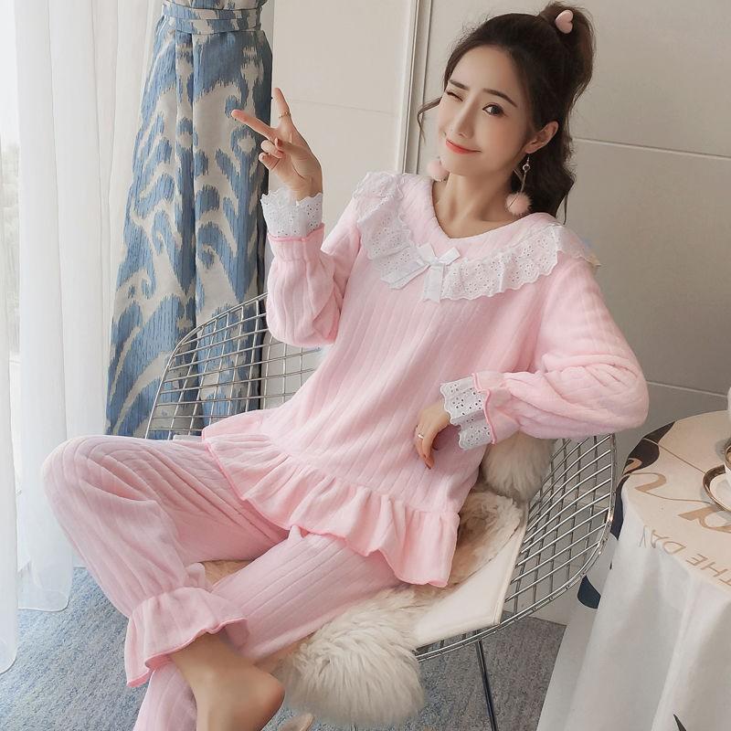 Bộ đồ ngủ thu đông kiểu dáng dễ thương thoải mái cho nữ - 22686345 , 4906225574 , 322_4906225574 , 325700 , Bo-do-ngu-thu-dong-kieu-dang-de-thuong-thoai-mai-cho-nu-322_4906225574 , shopee.vn , Bộ đồ ngủ thu đông kiểu dáng dễ thương thoải mái cho nữ