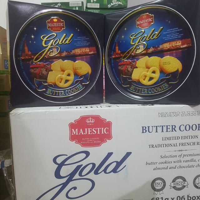 BÁNH MAJESTIC GOLD HỘP THIẾC 681G