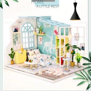 Kèm Mica – Mô hình nhà gỗ búp bê Dollhouse DIY – S922 Home A Little Rest