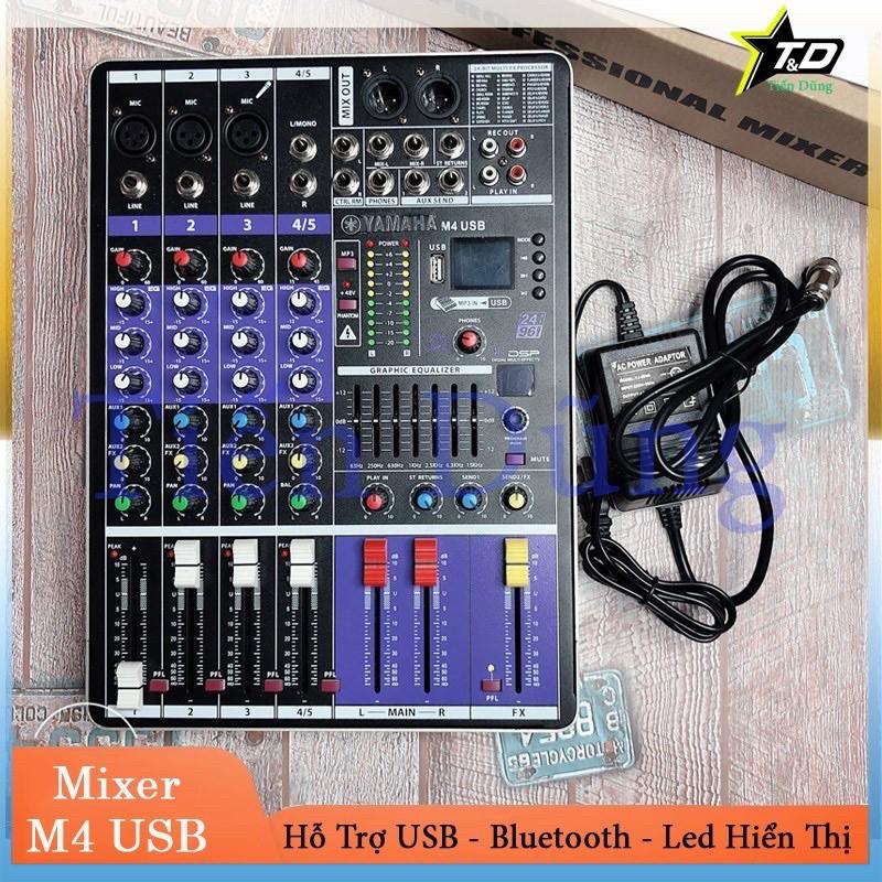 Bàn Mixer M4 USB  ⚡FREESHIP⚡Bản cao cấp vượt trợi các dòng mixer f4 và mixer f7 có blueooth usb màn hình led hiển thị hỗ