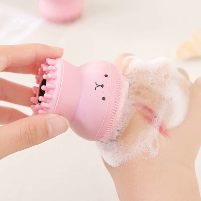[Mã 1510LIFESALE giảm 10% đơn 99K] Mút rửa mặt bạch tuộc silicone làm sạch sâu, massage da mặt