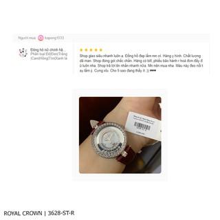 Đồng hồ nữ chính hãng Royal Crown 3628ST Dây da các màu