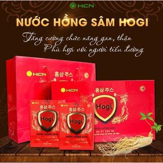 Nước hồng sâm Hogi tăng cường sức khỏe kéo dài tuổi xuân 1 hộp nhỏ 20 ông 10ml