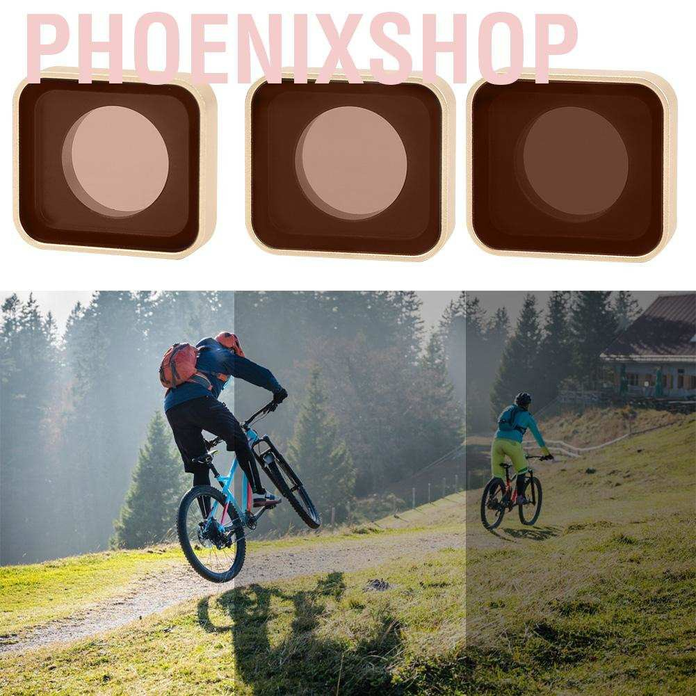 Phoenixshop Lens filter  aluminum alloy + ND optical glass lens kit ND4/8/16 with storage box for sports camer