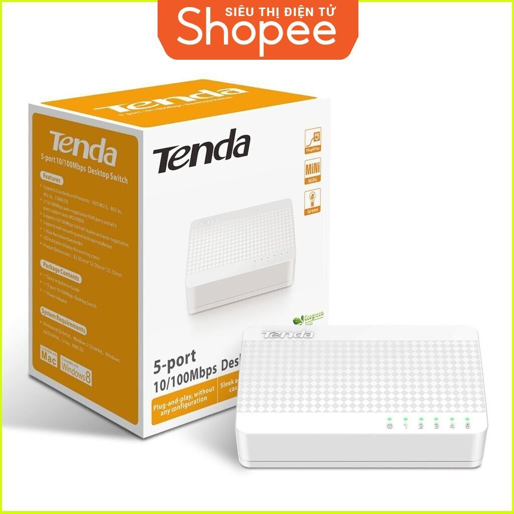 {SALE SIÊU KHỦNG} Bộ chia mạng 5 cổng 10/100/1000Mbps Tenda GS105 truyền dữ liệu tốc độ cao