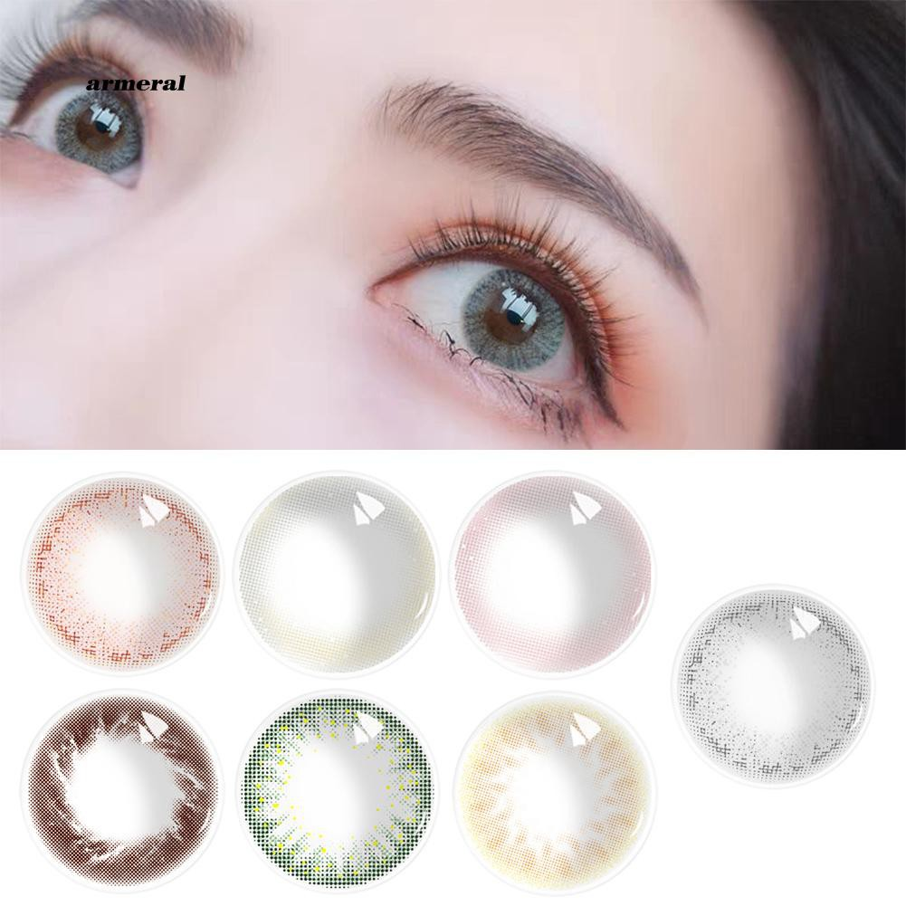 Ready Stock 2Pcs Big Eye Beauty Pure Colored Contact Lens Cosmetic Eyewear for Party Makeup