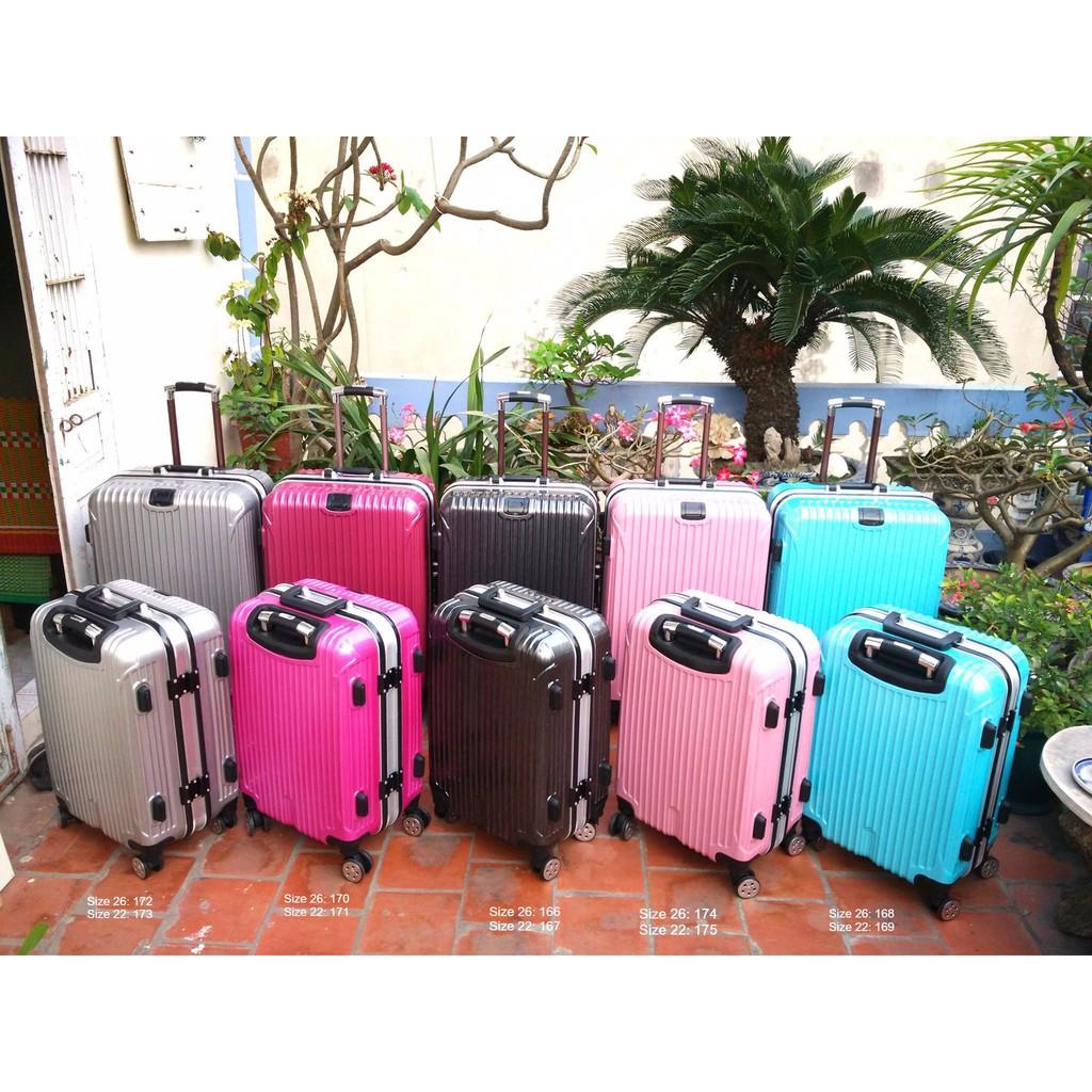 Vali Khóa sập - xám/tía/đen/hồng/xanh blue - Size 22 và 26 - V6 - 2913955 , 1031386616 , 322_1031386616 , 800000 , Vali-Khoa-sap-xam-tia-den-hong-xanh-blue-Size-22-va-26-V6-322_1031386616 , shopee.vn , Vali Khóa sập - xám/tía/đen/hồng/xanh blue - Size 22 và 26 - V6