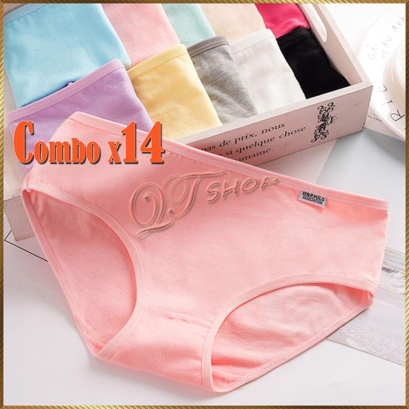 Combo 14 quần lót cotton