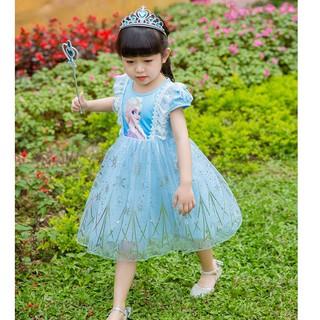 Váy elsa cho bé (tặng kèm phụ kiện)