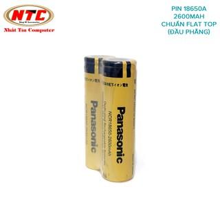 Combo 2 viên pin sạc 18650 Panasonic NCR18650 dung lượng 2600mah 3.7v max 4.2v đúng chuẩn (Vàng)