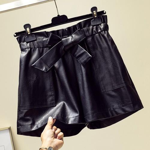 l~4 xl ขนาดใหญ่กางเกงขาสั้นแฟชั่นผีเสื้อยางยืดเอวกางเกงหนัง