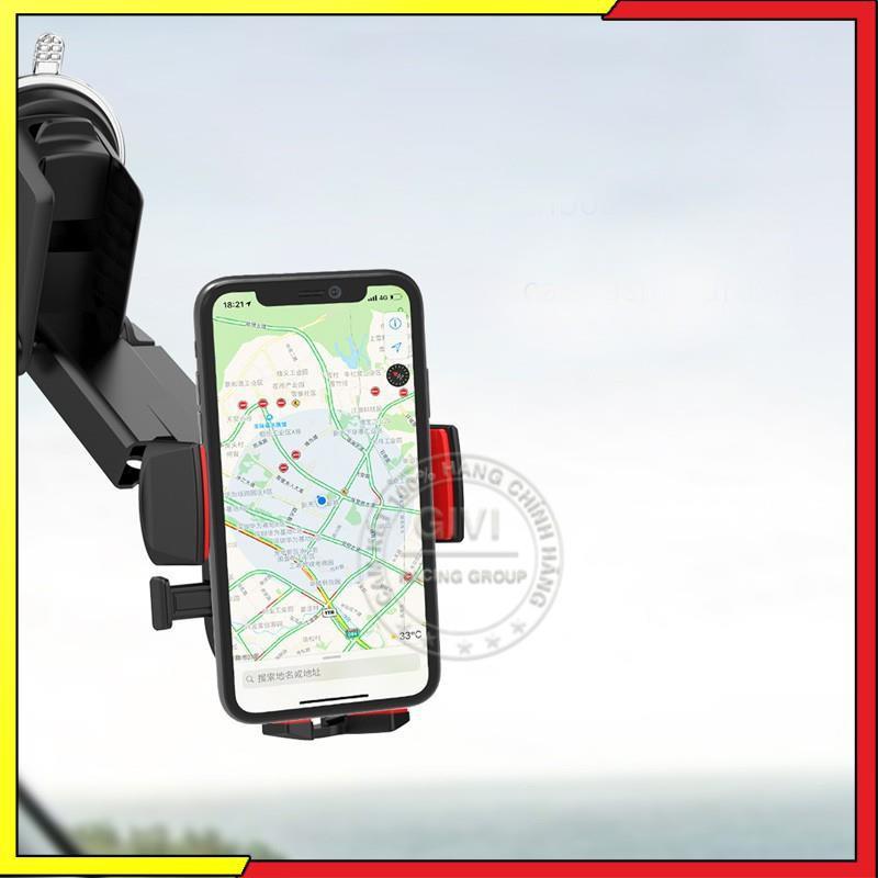 Giá đỡ điện thoại Lanex LHO-C09 trên xe hơi, sử dụng đa năng tiện dụng, tương thích các thiết bị 3.5-7 inch