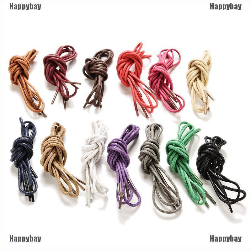 Happybay Colourful 75cm Cotton Waxed Round Cord String Dress Shoe Laces 1 Pair