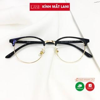 Gọng kính cận nam nữ bán viền càng nhựa dẻo siêu bền dễ đeo Lani 6214- Lắp Mắt Cận Theo Yêu Cầu thumbnail