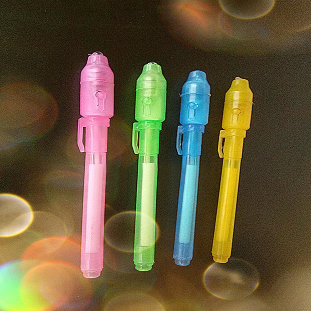 Bút tàng hình ma thuật đèn LED UV mực nước độc đáo