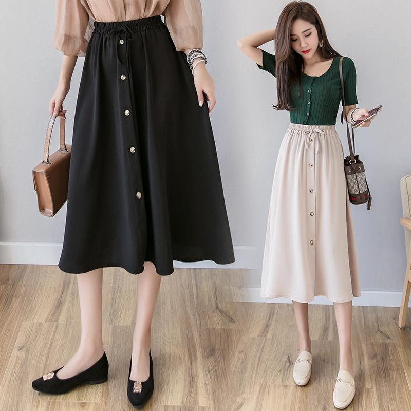 2148618744 - Chân váy dài màu trơn thời trang nữ tính